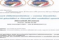 SPORT DILETTANTISTICO COME GESTIRLO - Ferrara 30 Marzo